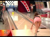 naked ass playing bowling