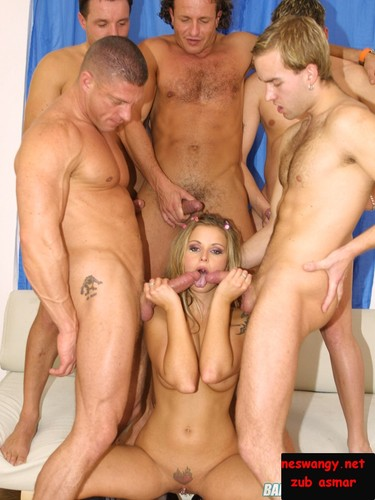 Gang banged blond in action from these hot pics. Bang Me Boys full